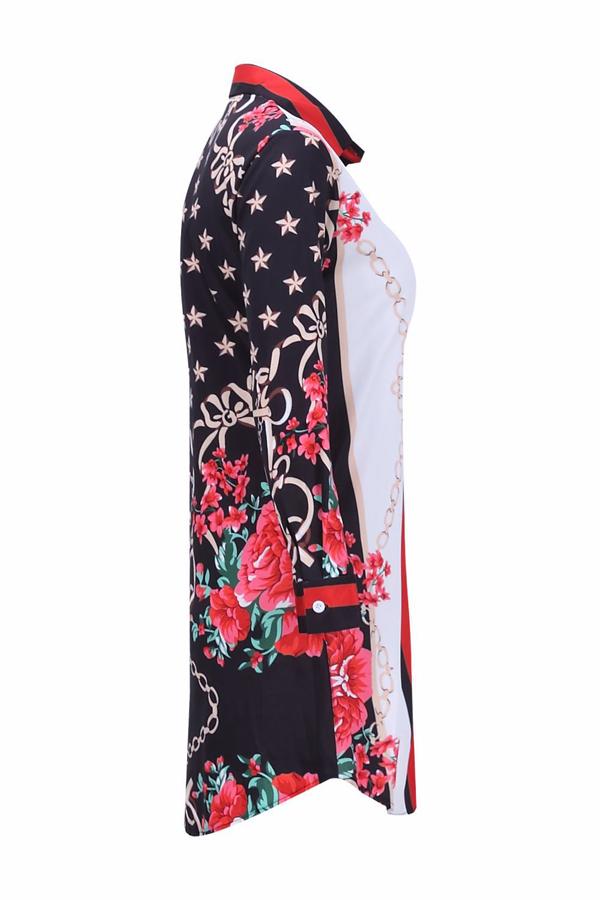 Vestito in tessuto stampato in poliestere patchwork stampato