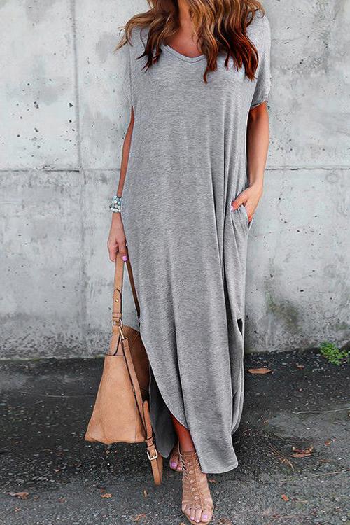 See Me Pocket Maxi Casual Dress