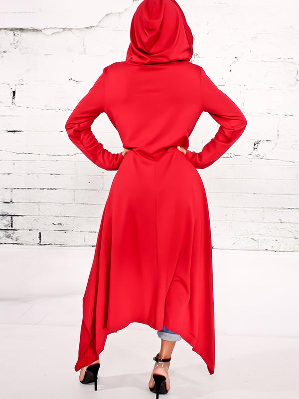 Ocio cuello redondo mangas largas algodón rojo mezclas suéteres