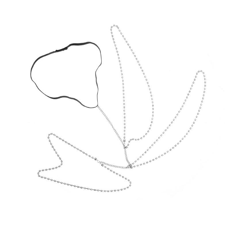 Модная полая серебряная металлическая цепочка для тела