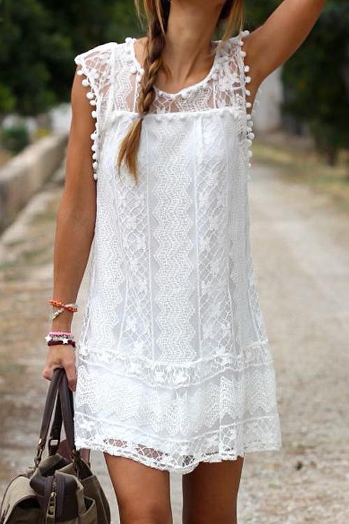 Lovely Lace Fashion O neck Cap Sleeve Sleeveless A