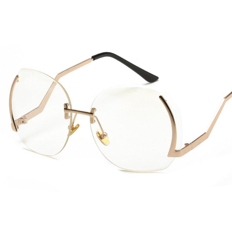 Стильные золотые металлические солнцезащитные очки