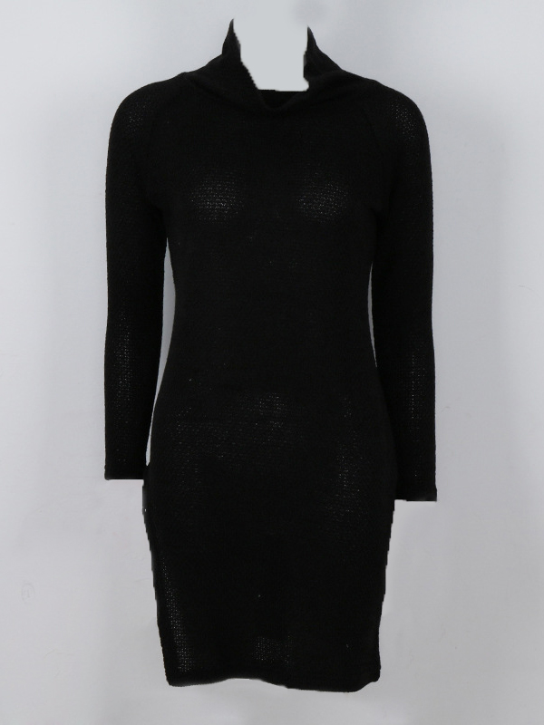 Euramerican Turtleneck Long Sleeves Black Knitting Sweaters