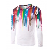 Euramerican Round Neck Long Sleeves Printed Cotton