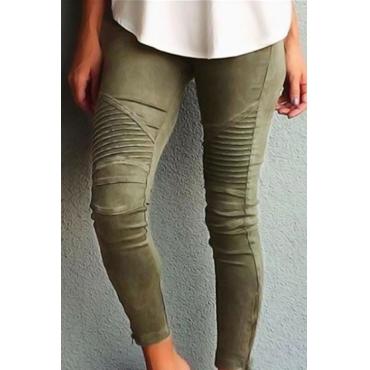 Cotone Solid Leggings Alto
