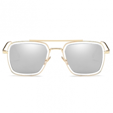 Fashion Hollow-out Gold PC Sunglasses