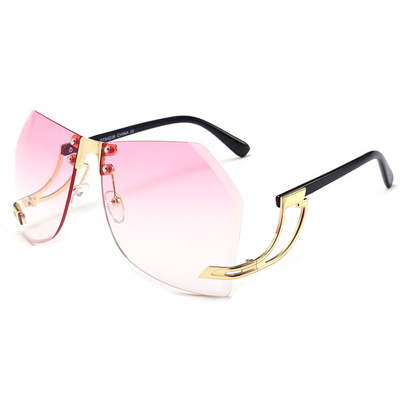Trendy Pink Plastic Sunglasses