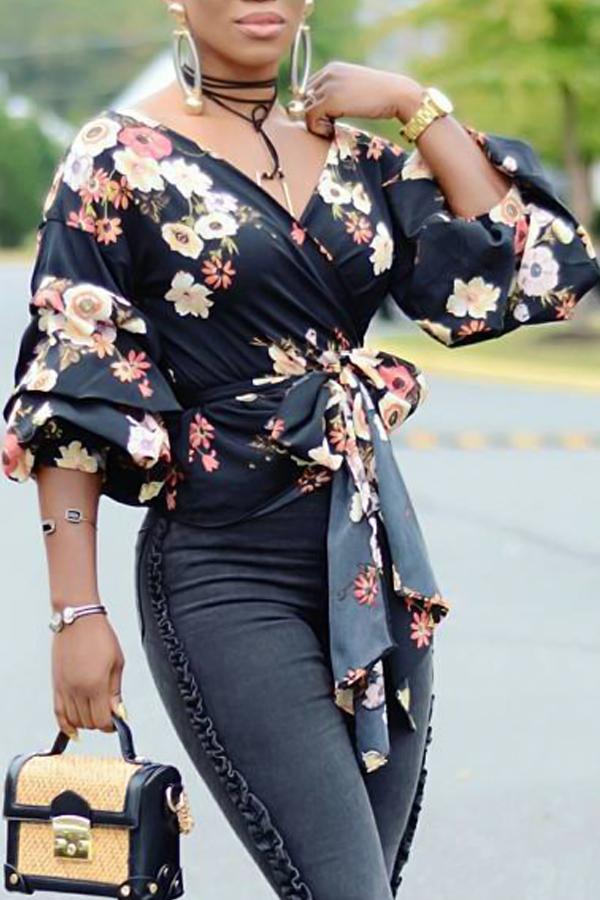 Euramerican V-Ausschnitt Verband Gedruckte Polyester-Hemden