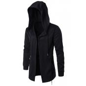 Stylish Black Cotton Hoodies men's clothes