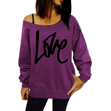 Lovely Cotton Casual Letter Regular Long Sleeve  Sweats&Hoodies
