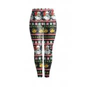 Euramerican Mittlere Taille Gedruckt Polyester Leggings