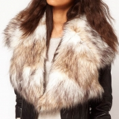 Fashion Fur Design White Wool Scarves
