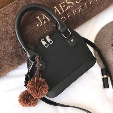 Moda Cremallera Diseño Negro PU Embragues Bolsos