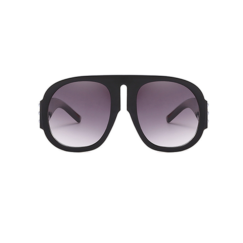 Lovely Fashion Rivet Decorative Black PC Sunglasses
