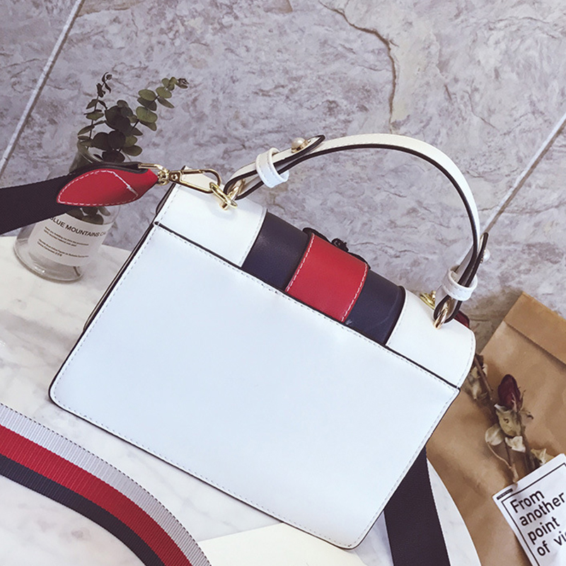 Lovely Chic Butterfly Decorative Hasp Design White PU Clutches Bag