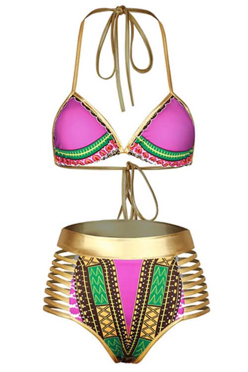 LovelyPolyester Print Bikinis