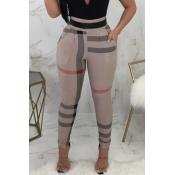 Moda Linda Cintura Elástica Alta Faixa Irregular