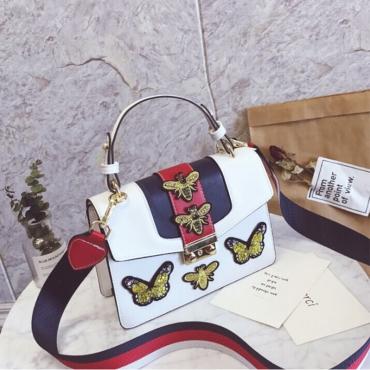Borsa Elegante Con Pochette In PU Bianco Decorativo A Forma Di Pappagallo