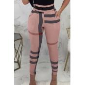Lovely Fashion High Elastic Waist Irregular Stripe