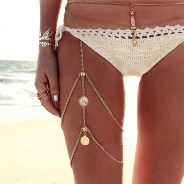 Lovely Retro Gold Metal Body Chain