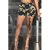 Lovely Fashion Camouflage Printed Army Green Cotto