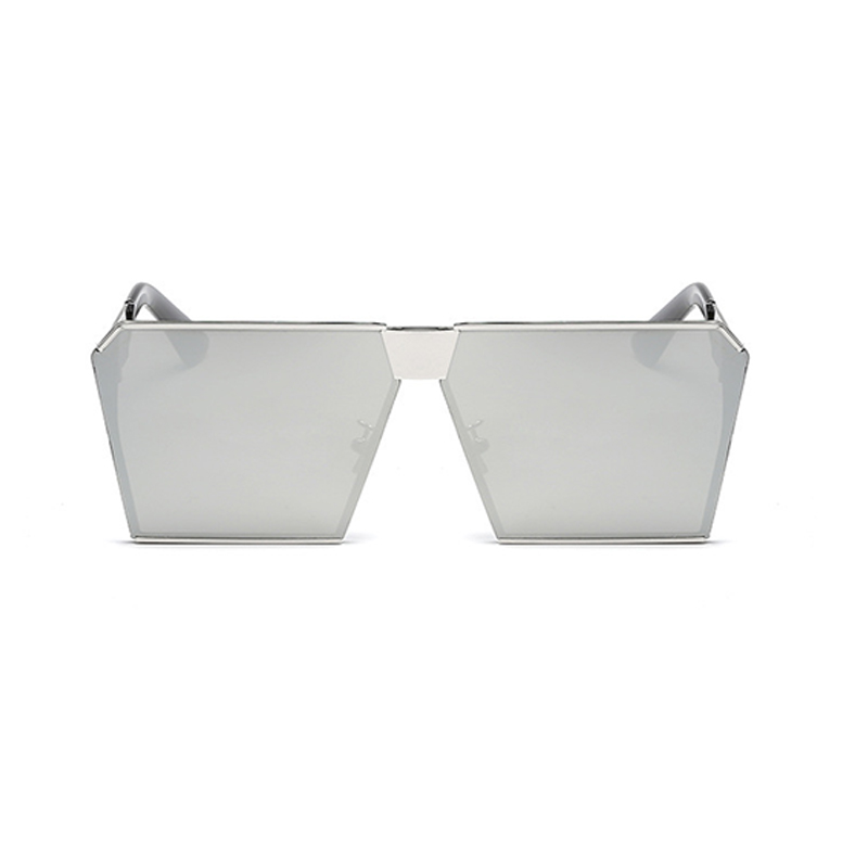Lovely Square Frame Design Silver Metal Sunglass
