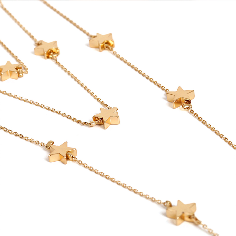 Lovely Fashion Stars Gold Metal Necklace