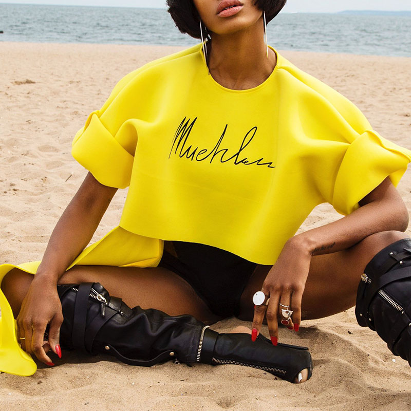 LovelyCasual Asymmetrical Yellow T-shirt