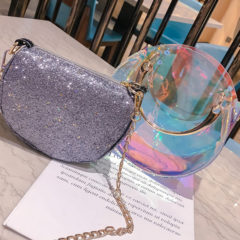 Lovely Fashion See-Through Messenger Bags