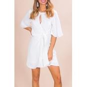 Lovely Polyester Fashion Half Sleeve O Neck Mini D