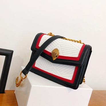 Lovely Black+White Patent Leather Crossbody Bag