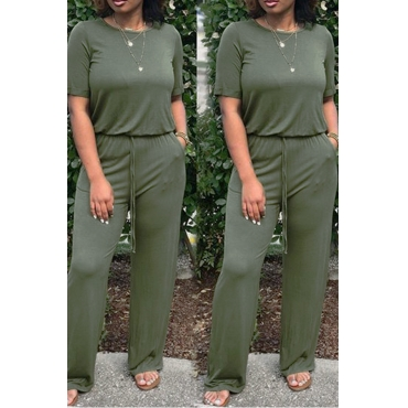 LovelyCasual Green One-piece Jumpsuits