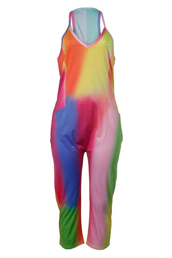 LovelyEuramerican Printed One-piece Jumpsuit