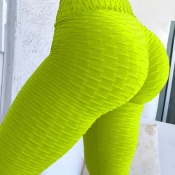 Lovely Euramerican High Waist  Skinny Green Leggin