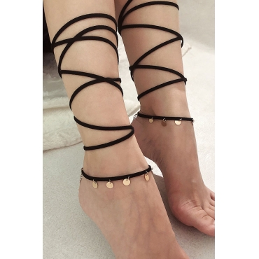 Lovely Fashion Layered Black  Body Chain