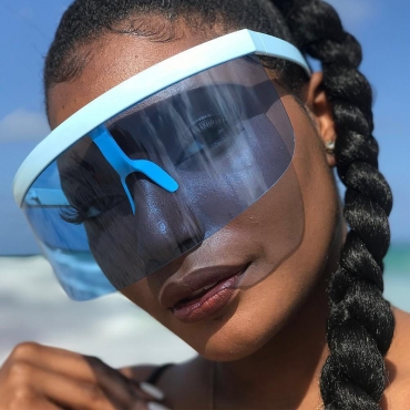 Lovely Fashion Huge Blue PC Sunglasses