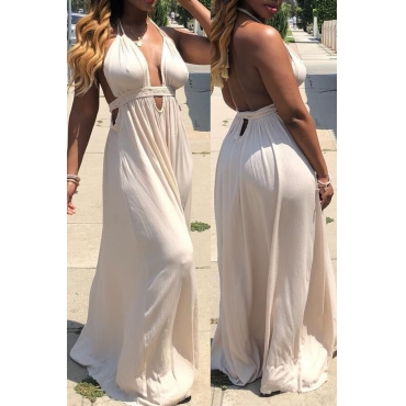Lovely Trendy Backless Loose White One-piece Jumpsuit