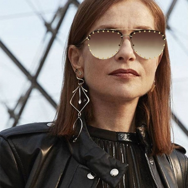 Lovely Fashion Rivet Decorative Golden PC Sunglasses