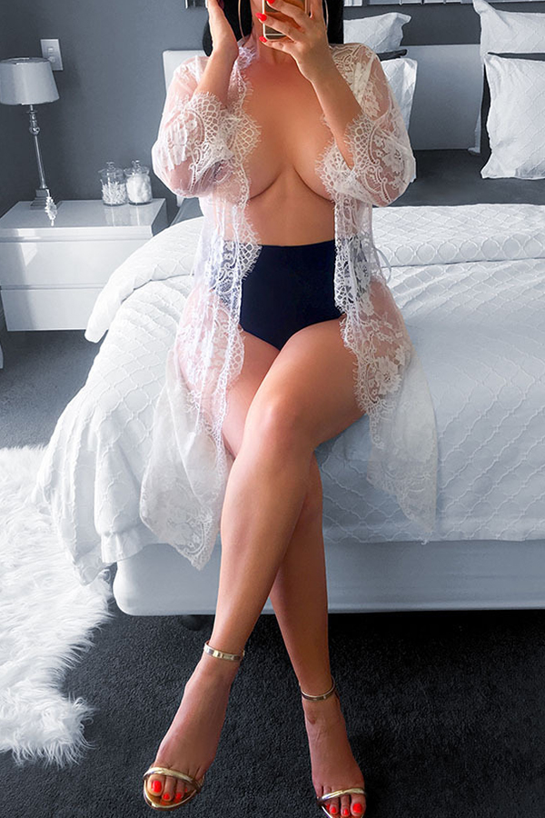 Lovely Sexy See-through Pink Nylon Chemise(Without  Underclothes)