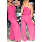 Lovely Trendy Loose Red One-piece Jumpsuit