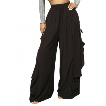 Lovely  Casual Loose Black Pants