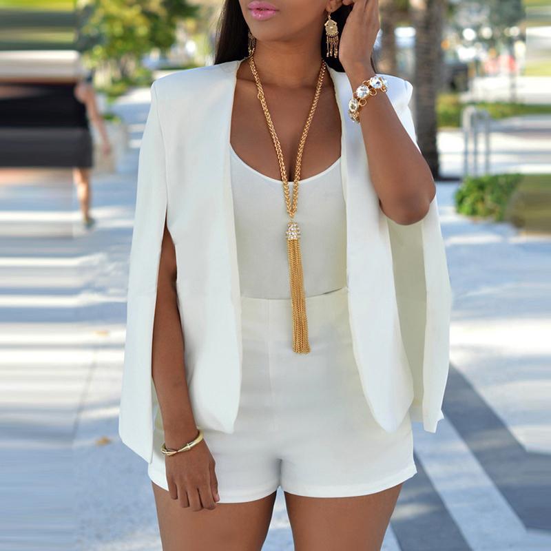 Blazer&Suits Lovely Temperament Cape Design White Blazer фото