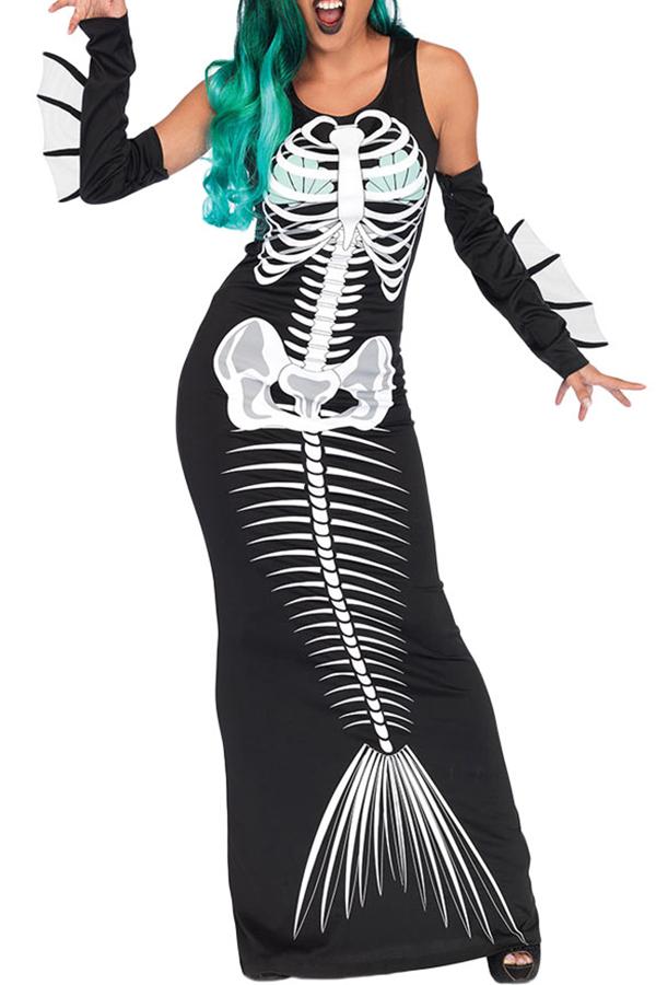 Lovely Euramerican  Animal Skull Halloween Multicolor Cosplay Costumes