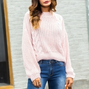 Lovely Sweet Long Sleeves Pink Sweaters