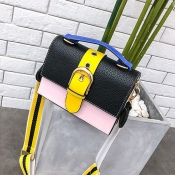 Lovely  Fashion Patchwork Black Messenger