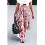 Lovely Euramerican Printed Loose Pink Pants