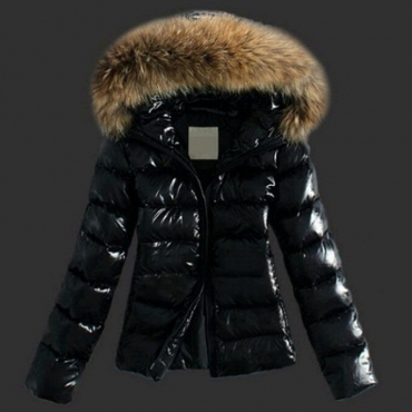 Lovely Casual Hooded Collar Black Faux Fur Coat