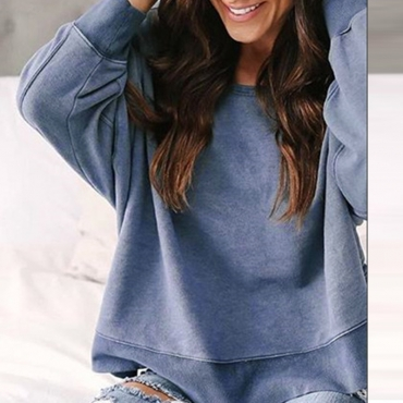 Lovely Polyester Casual Make Old Regular Long Sleeve  Sweats&Hoodies