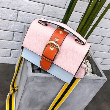 Lovely  Fashion Patchwork Pink Messenger