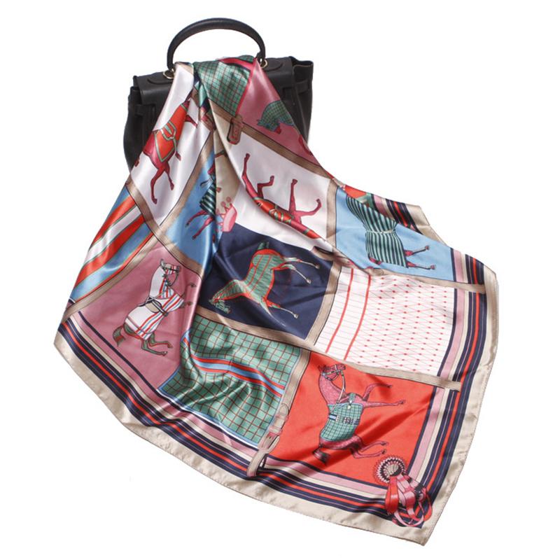 Lovely Chic Printed Khaki Scarves